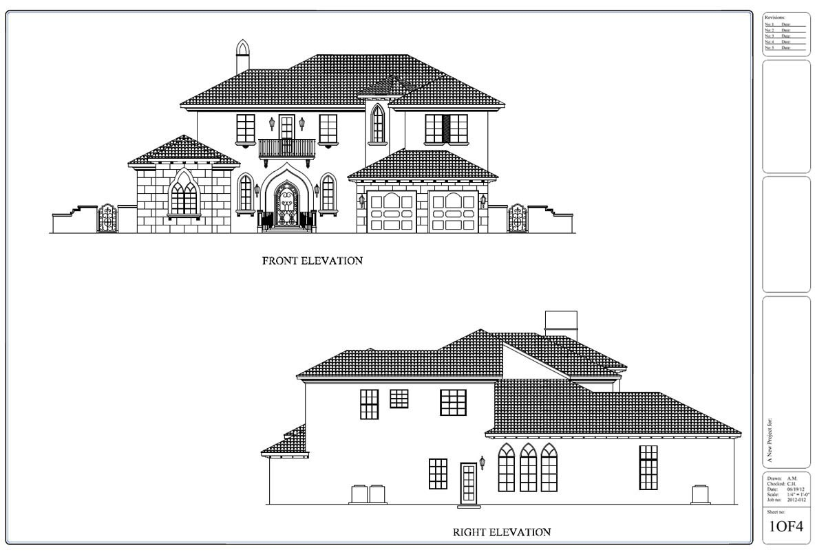 Civil Drawing Front Elevation : Drafting by ids