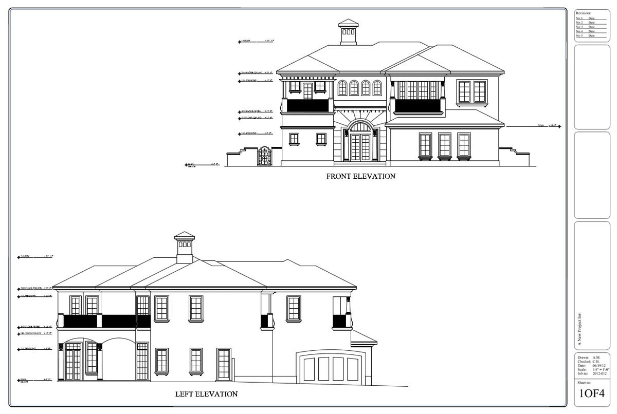 Front Elevation Design In Revit : Drafting by ids